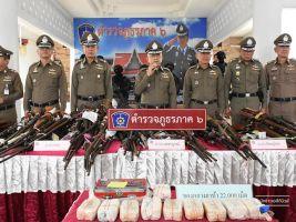 ตำรวจภูธรภาค 6 แถลงผลการปราบปรามอาชญากรรมและยาเสพติด