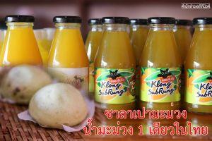 น้ำมะม่วง - ซาลาเปาไส้มะม่วง  1 เดียวในประเทศไทยแก้ปัญหามะม่วงราคาตก